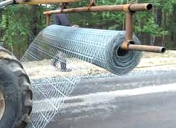 Road mesh used in road construction