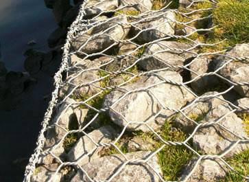 Gabion mattress is a low gabion box used for erosion control in slopes