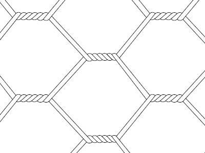 A drawing of triple twist garden fence.
